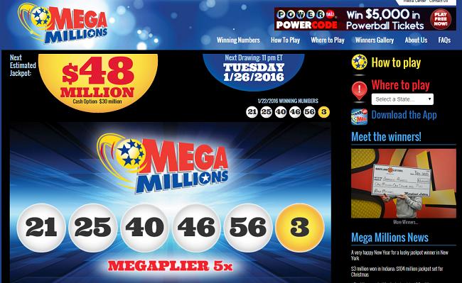 Usa Mega Millions And Powerball